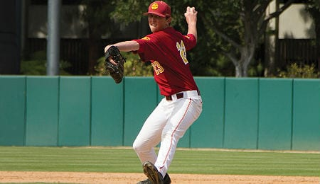 Brooks Kriske had a successful season debut for the Southern California Trojans.