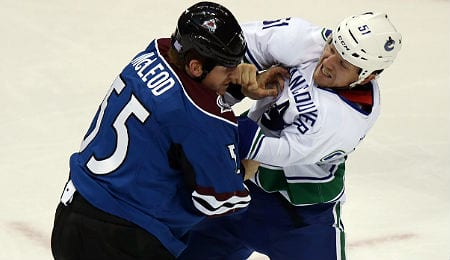 Derek Dorsett has brought physical play to the Vancouver Canucks.