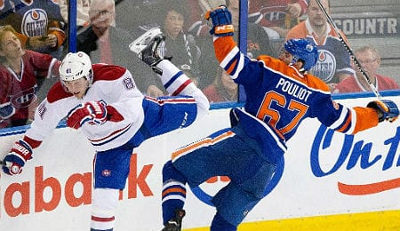 Benoit Pouliot is fitting in nicely on the top line for the Edmonton Oilers.