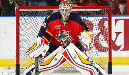 Dan Ellis recorded his first shutout of the season for the Florida Panthers.