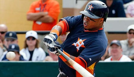 Luis Valbuena is flashing great extra base pop for the Houston Astros.