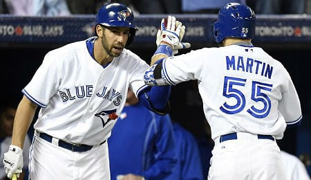 Chris Colabello is racking up the hits for the Toronto Blue Jays.