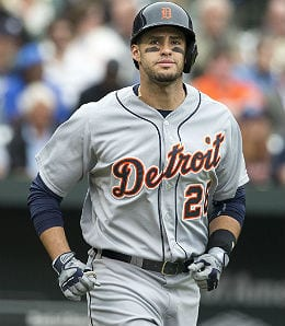 J.D. Martinez is mashing for the Detroit Tigers.