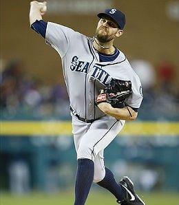 Tom Wilhelmsen is the current closer for the Seattle Mariners.