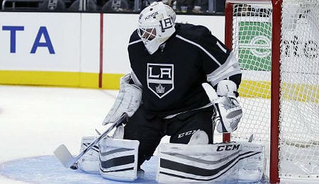 Jhonas Enroth is the new backup goalie for the Los Angeles Kings.