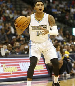 Gary Harris is starting to score for the Denver Nuggets.