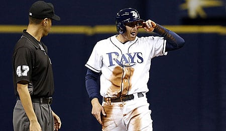 Brad Miller is flashing some power for the Tampa Bay Rays.