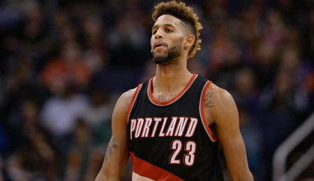Allen Crabbe is producing points for the Portland Trail Blazers.