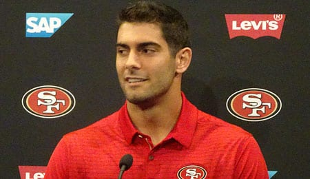Jimmy Garoppolo will be a big part of the rebuild of the San Francisco 49ers.