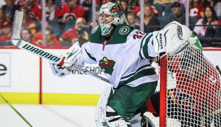Alex Stalock is now manning the net for the Minnesota Wild.