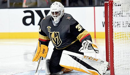 Malcolm Subban is now manning the net for the Vegas Golden Knights.