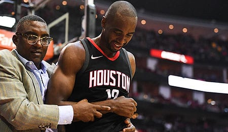 Luc Mbah a Moute is seeing more PT for the Houston Rockets.