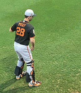 Buster Posey's power has dipped for the San Francisco Giants.