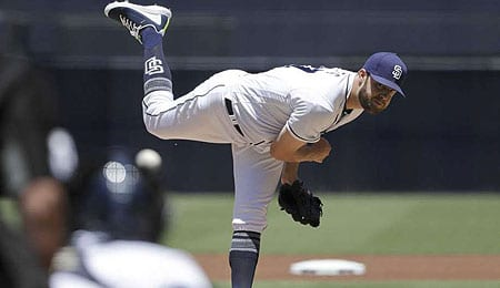 Jordan Lyles has moved into the rotation for the San Diego Padres.