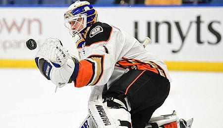 Chad Johnson will get more action for the Anaheim Ducks.