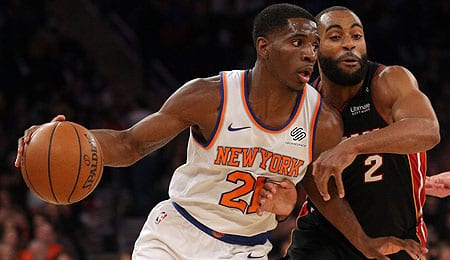 Damyean Dotson is playing very well for the New York Knicks.