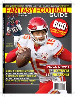 The 2019 Fantasy Football Guide is here.