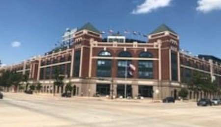 This the final season of the Texas Rangers stadium.