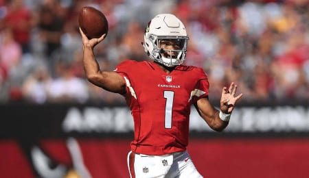 Kyler Murray is an athletic QB for the Arizona Cardinals.