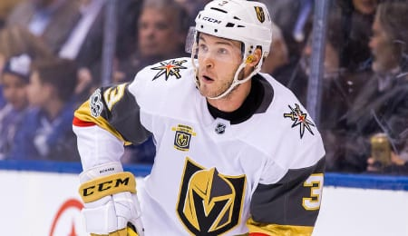 Brayden McNabb has been a hit master for the Vegas Golden Knights.
