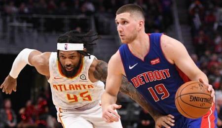 Sviatoslav Mykhailiuk is beginning to step up for the Detroit Pistons.