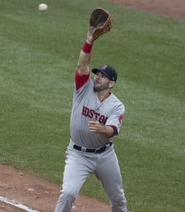 Mitch Moreland had a great, but injury shortened season with the Boston Red Sox.