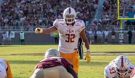 Louisiana-Monroe Warhawks LB Chase Day lost his chance to get drafted.