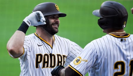 Mitch Moreland struggled to produce for the San Diego Padres.